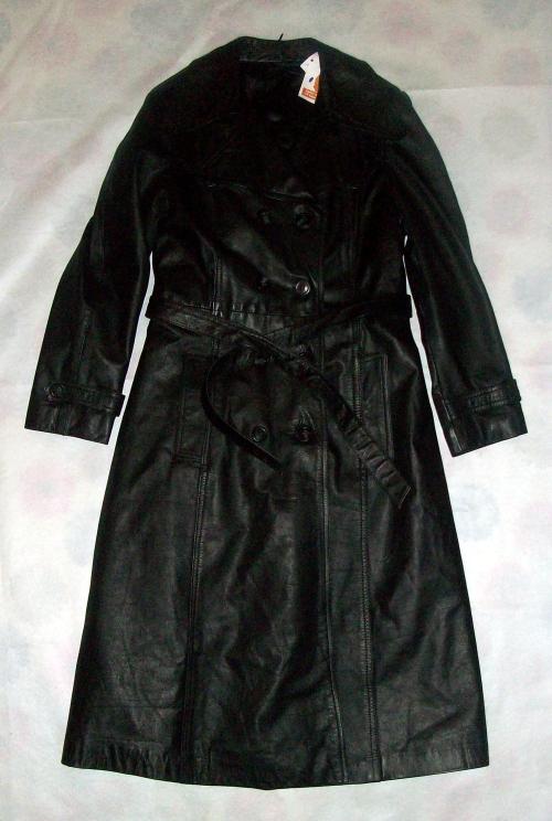 jaket kulit hitam panjang jual